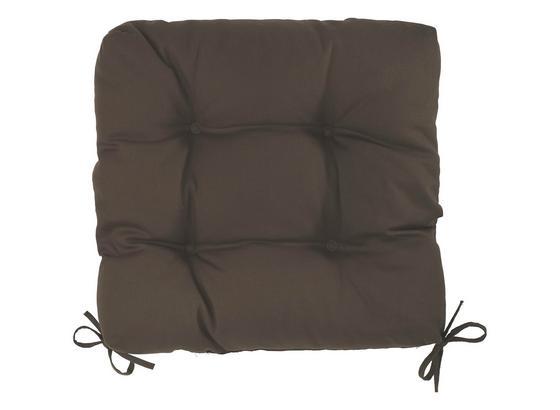 Sedák Elli-hit- - hnědá, textil (40/40/7cm) - Based