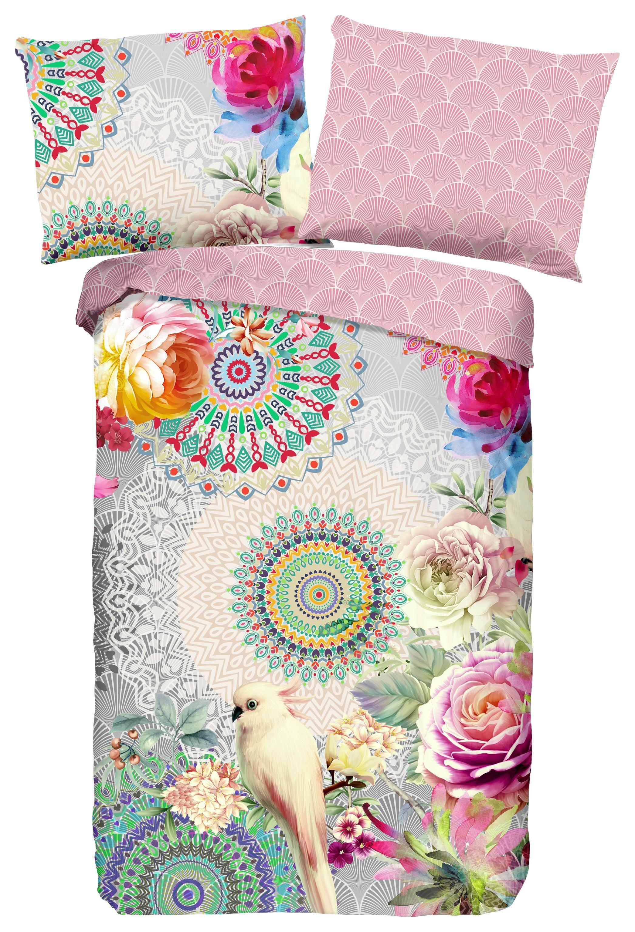 Wendebettwäsche Lucero - Multicolor/Grau, MODERN, Textil