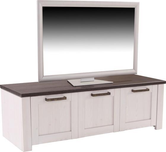 Tv-elem Provence - vörösfenyő szín/fehér, romantikus/Landhaus, faanyagok (139/42/42cm)