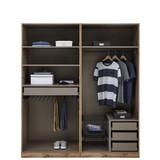 Kleiderschrank Offen 182,2cm Unit - Weiß, MODERN, Holzwerkstoff (182,2/210/56,5cm) - Ombra