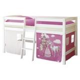Hochbett Tipsi 90x200 cm Pink - Pink/Weiß, Natur, Holz (90/200cm) - Carryhome