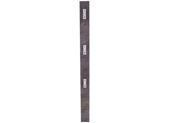 Nástenný Vešiak Enzo - tmavosivá, Moderný, kompozitné drevo (12/175/2,8cm)