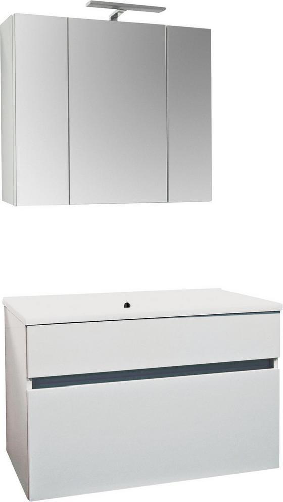 Badezimmer Koper Weiss - Weiß, MODERN, Holzwerkstoff (79,6/46/50cm)