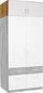 Aufsatzschrank Aalen Extra, 91cm - Eichefarben/Weiß, KONVENTIONELL, Holzwerkstoff (91/39/54cm)