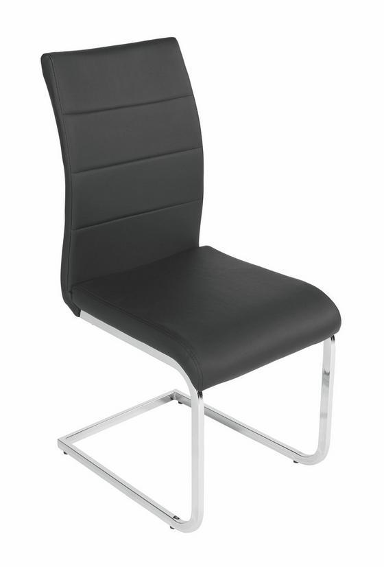 Stolička Carola - čierna/chrómová, Moderný, kov/textil (44/97/59cm)