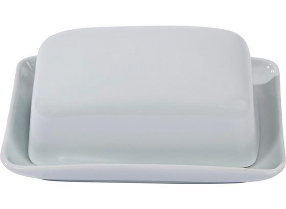 Butterdose Ira - Weiß, KONVENTIONELL, Keramik (16,5/14/7cm) - Ombra
