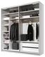 SCHWEBETÜRENSCHRANK Includo 225cm Weiß - Weiß, MODERN, Holzwerkstoff (225/222/68cm)