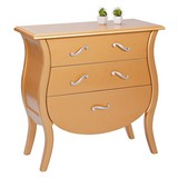 Kommode Barokko B: 70 cm - Goldfarben, Basics, Holz/Holzwerkstoff (70/78/40cm) - Livetastic