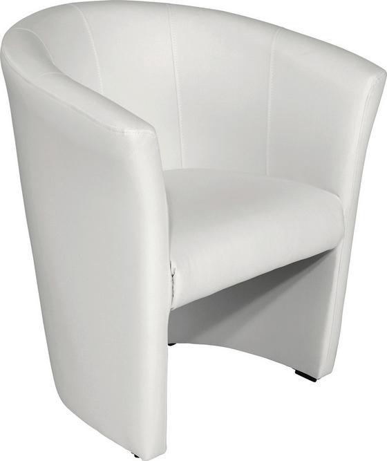 Křeslo Hugo - bílá, Moderní, textil (69/76/59cm) - Ombra