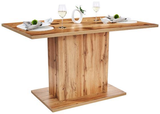 Étkezőasztal Oskar 138 - Tölgyfa, modern, Faalapú anyag (138/76/80cm)
