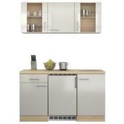 Küchenblock Abaco 150 cm Perlmutt - Perlmutt/Akaziefarben, MODERN, Holzwerkstoff (150/60cm)
