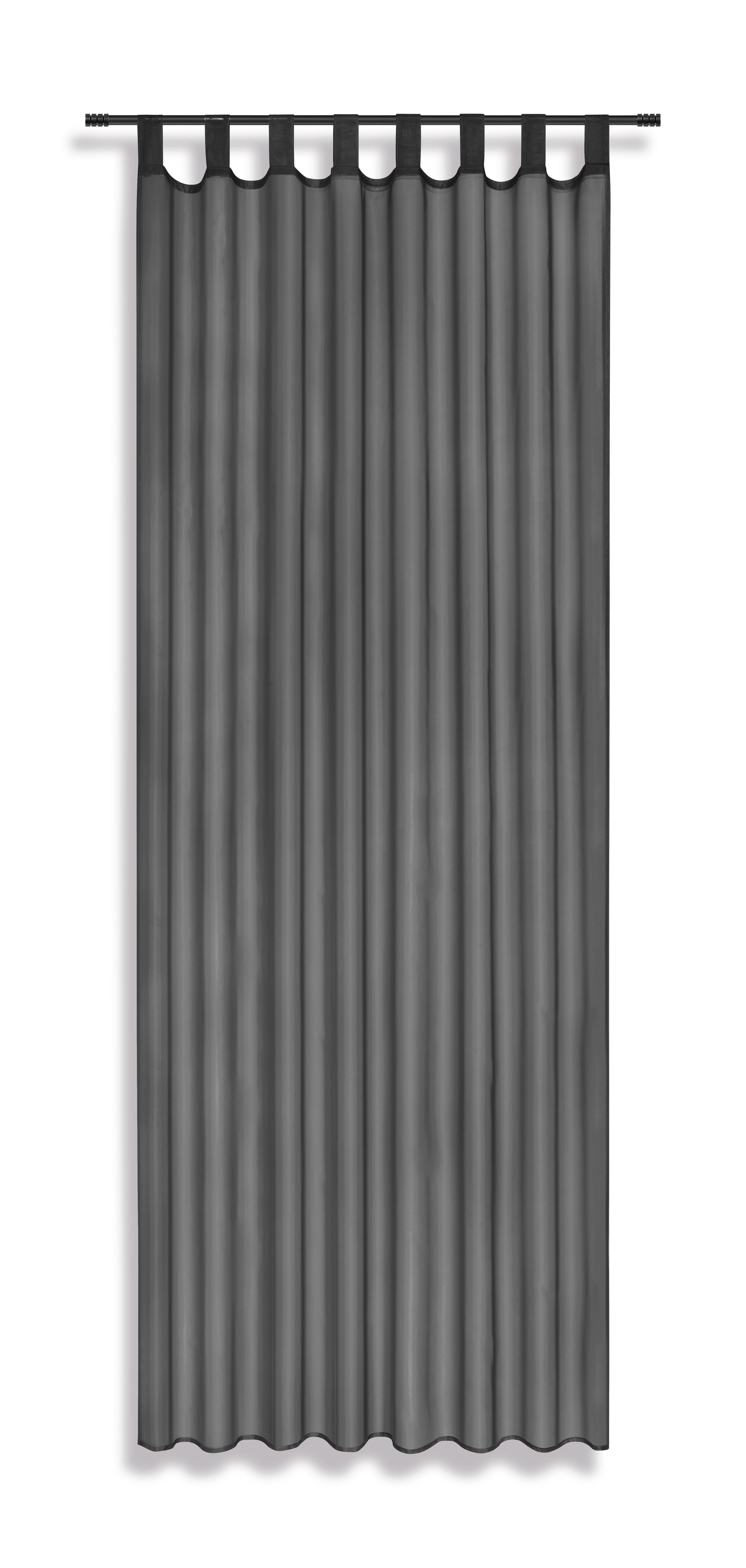 Schlaufenvorhang dunkelgrau