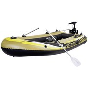 Schlauchboot Schlauchboot mit Motor Sbm 350 - Sandfarben/Gelb, KONVENTIONELL, Kunststoff (305/136/42cm)