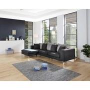 Wohnlandschaft in L-Form Preston 162x280 cm - Chromfarben/Dunkelgrau, MODERN, Textil (162/280cm)