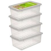 Aufbewahrungsboxen-Set Bea 4er Set - Transparent, Kunststoff (33/19,5/12cm)