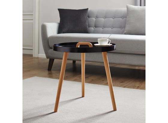 Přístavní Stolek Lia - černá/barvy pinie, Moderní, dřevo (49,5/49,5cm) - Mömax modern living