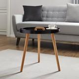 Přístavní Stolek Uta - černá/barvy pinie, Moderní, dřevo (49,5/49,5cm) - Mömax modern living