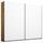 Schwebetürenschrank 226cm Belluno, Weiß/ Eiche Dekor - Eichefarben/Weiß, MODERN, Holzwerkstoff (226/210/62cm)