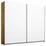 Schwebetürenschrank Belluno B:226cm Weiß/wotan Eiche Dekor - Eichefarben/Weiß, MODERN, Holzwerkstoff (226/210/62cm)