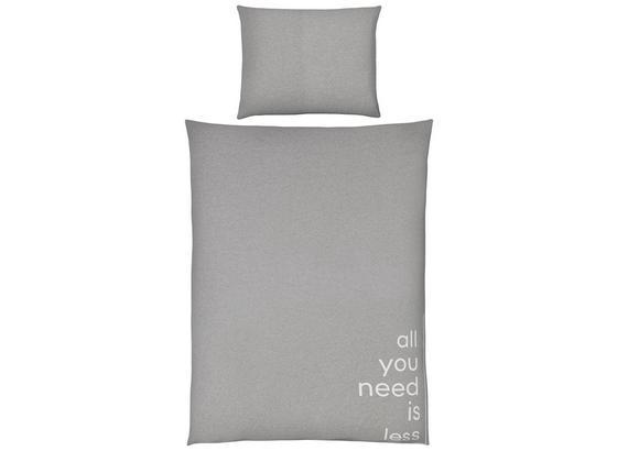 Povlečení Jersey Words - šedá, Moderní, textil (140/200cm) - Premium Living