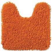 WC Vorleger Lilly, mit Schnitt - Orange, KONVENTIONELL, Textil (45/50cm) - OMBRA