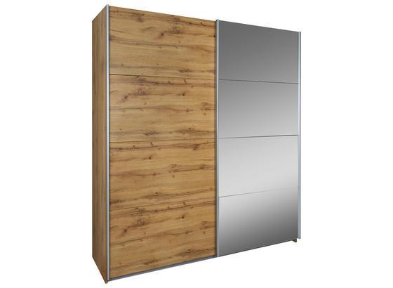 Skříň S Posuvnými Dveřmi Feldkirch 4 136x210cm - barvy dubu, Moderní, kompozitní dřevo (136/210/62cm)