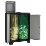 Müllsackständer Split Premium - Hellgrau/Schwarz, KONVENTIONELL, Kunststoff (68cm) - Keter