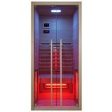 Infrarotkabine 1 Person 90,5x195x100 cm Ruby - Braun, Basics, Holz (90,5/195/100cm)