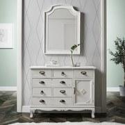 Zrcadlo Lewis Vintage - bílá, Moderní, dřevo/sklo (63/85/3,5cm) - MÖMAX modern living