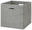 Skládací Krabice Elli -ext- -top- - šedá, Moderní, karton/textilie (33/33/32cm) - Modern Living
