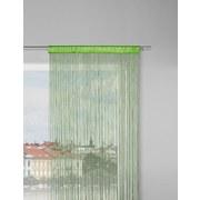 Nitkový Záves Victoria - zelená, textil (90/245cm) - Mömax modern living