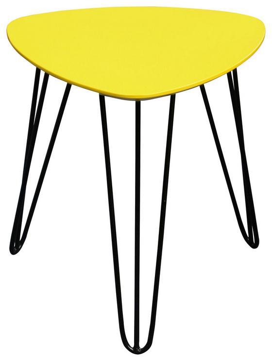 Beistelltisch Tropf - Gelb/Schwarz, MODERN, Holzwerkstoff/Metall (40/42/40cm)