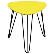 Odkládací Stolek Tropf - černá/žlutá, Moderní, kov/dřevěný materiál (40/42/40cm)