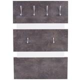 Garderobenpaneel Moya - Dunkelgrau/Weiß, MODERN, Holzwerkstoff/Kunststoff (70/99/2cm)