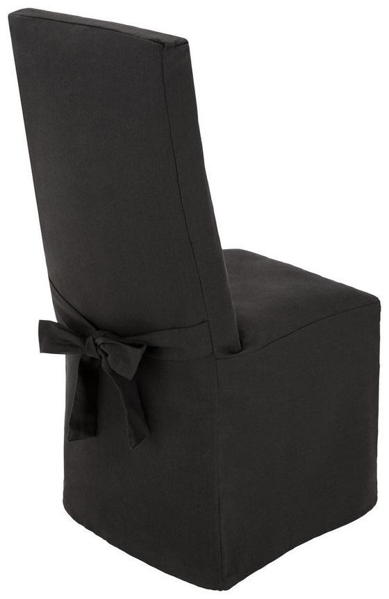 Stuhlhusse Nadja - Anthrazit, KONVENTIONELL, Textil (40/110/40cm) - Ombra