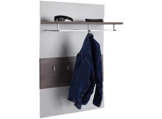 Garderobenpaneel Nagos - Eichefarben/Weiß, MODERN, Holzwerkstoff (90/125/28,6cm)
