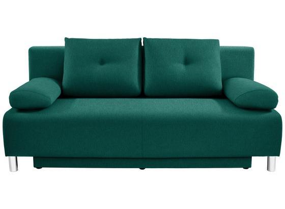 Pohovka Boxspring Ines - zelená, Moderní, dřevo/textil (203/96/102cm) - Luca Bessoni