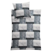 Makosatin Bettwäsche Siena L - Grau, MODERN, Textil - Kleine Wolke