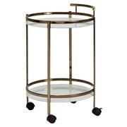 Servierwagen D: ca. 50 cm Goldfarben/Weiß - Goldfarben, Design, Glas/Kunststoff (50/50/80cm) - MID.YOU