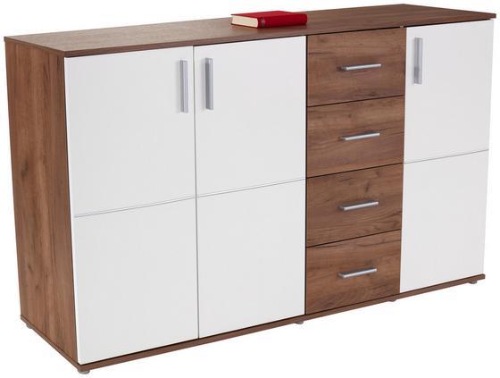 Kommode Ina 05 - Eichefarben/Weiß, MODERN, Holzwerkstoff (175,6/95,2/38,3cm)