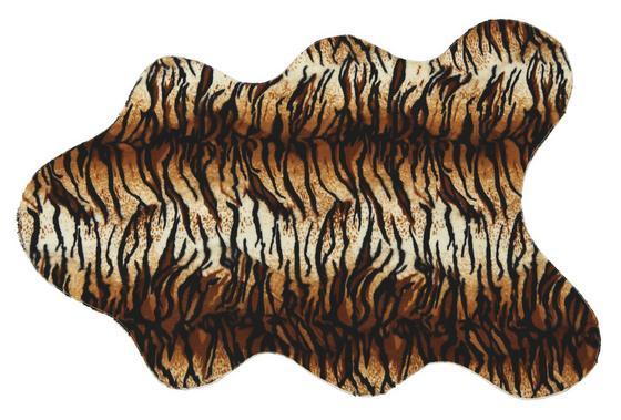 Vorleger Annette 70x100 cm - Schwarz/Orange, KONVENTIONELL, Textil (70/100cm) - James Wood