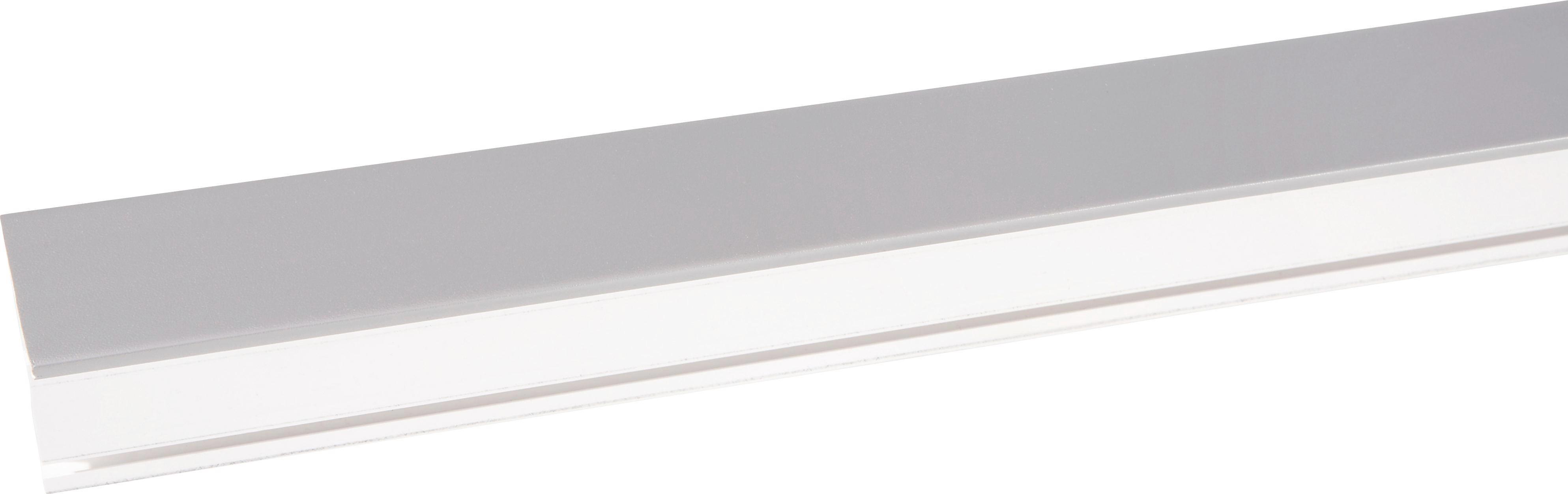 Függönysín Szürke - fehér/szürke, konvencionális, műanyag (150/5/7.5cm) - MÖBELIX