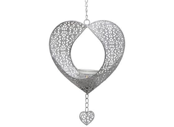 Dekohänger Florenz - Hellgrau, Basics, Metall (22/10/25cm)