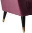 Pohovka Florentina - bobulová, Moderní, dřevo/textilie (170/84/73cm) - Modern Living
