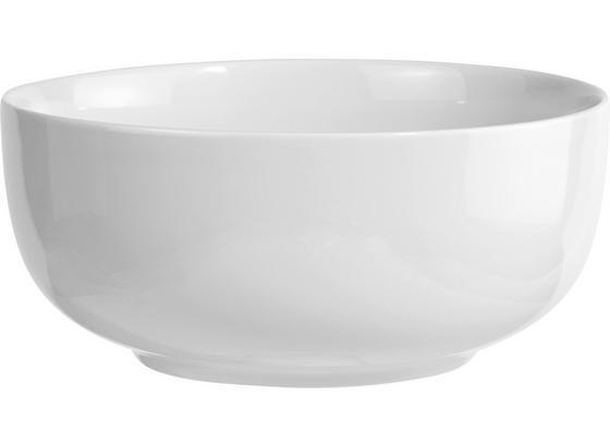 Salatschüssel Felicia - Weiß, KONVENTIONELL, Keramik (21cm) - Ombra