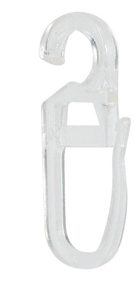 Faltenhaken Klar, 20 Stk. - Klar, KONVENTIONELL, Kunststoff - Ombra