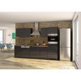 Küchenblock Mailand Gsp B: 300cm Anthrazit - Eichefarben/Anthrazit, Basics, Holzwerkstoff (300/200/60cm) - MID.YOU