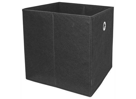 Skládací Krabice Cubi - černá, Moderní, kompozitní dřevo/textil (32/32/32cm)