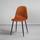 Židle Lio - černá/rezavá, Moderní, kov/dřevo (43/86/55cm) - Modern Living
