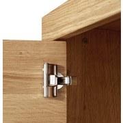 Wohnkombination Pure 1 - Eichefarben, MODERN, Glas/Holz (350/197/50cm)